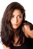 Face of beautiful brunette — Stock Photo