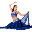 Belly dancer sitting — Stock Photo