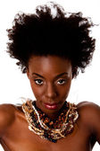 African Tribal beauty face — Stock Photo