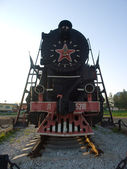 Locomotive - monument — Stock Photo