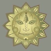 Sun ornament — Stockvektor