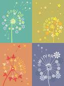 Dandelion calendar — Stock Vector