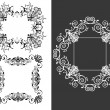 Stock Vector: Set of 3 vintage decorative frames