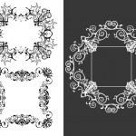 Set of 3 vintage decorative frames — Stock Vector