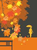 Jesień krajobraz 2 — Wektor stockowy
