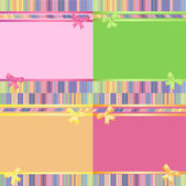 Rainbow decorative striped backgrounds set — Stock Vector