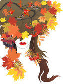 Autumn queen — Stock Vector