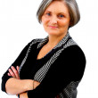 Content Older Businesswoman - Foto Stock