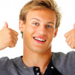 Royalty-Free Stock Photo: Thumbs up - Young guy
