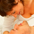 Young couple making out - Stockfoto