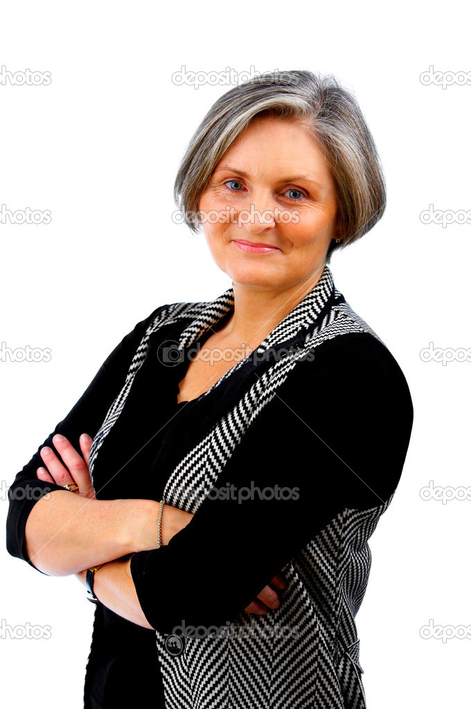 This picture is of a mature, but still modern, businesswoman — Stock Photo #3197310