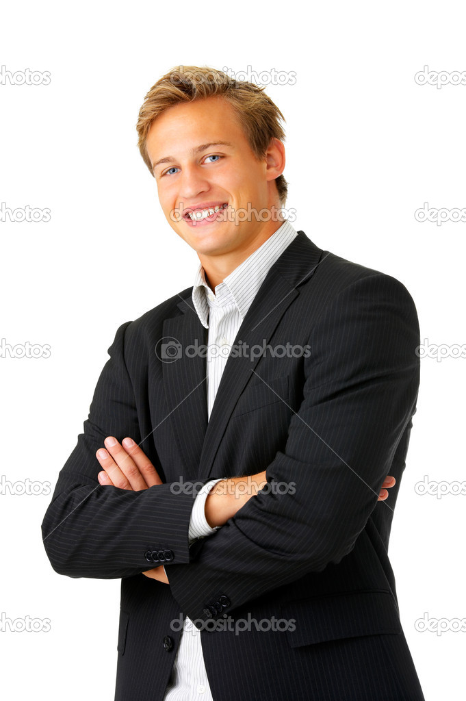 Portrait of a young businessman standing comfortably.  — Stock Photo #3198185