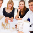 Royalty-Free Stock Photo: Portrait of five architects