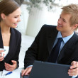 Businesswoman consulting a partner - Foto de Stock