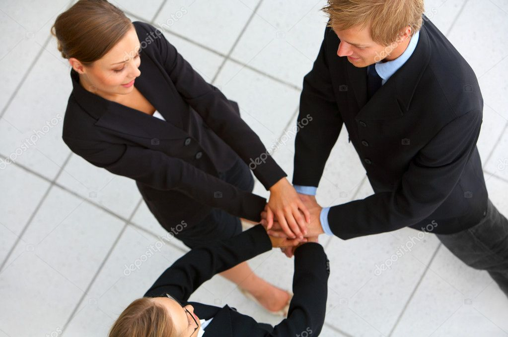 Hands on top of each other. Symbolic picture.  — Stock Photo #3215735