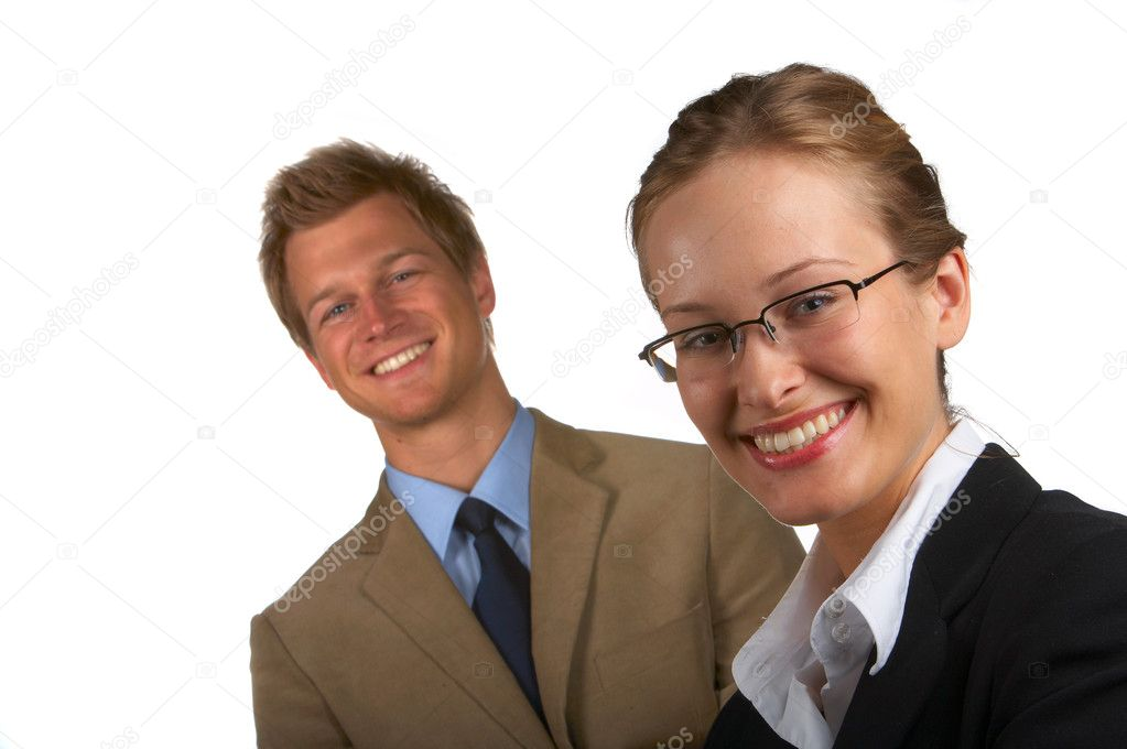 BusinessteamBusinesspeople in studio — Stockfoto #3216968