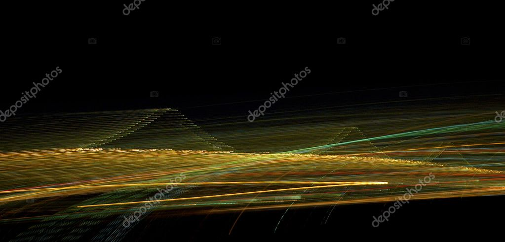 This is a long-exposed photograph of lights which is perfect for a background because of its visual impact.  — Stock Photo #3217733