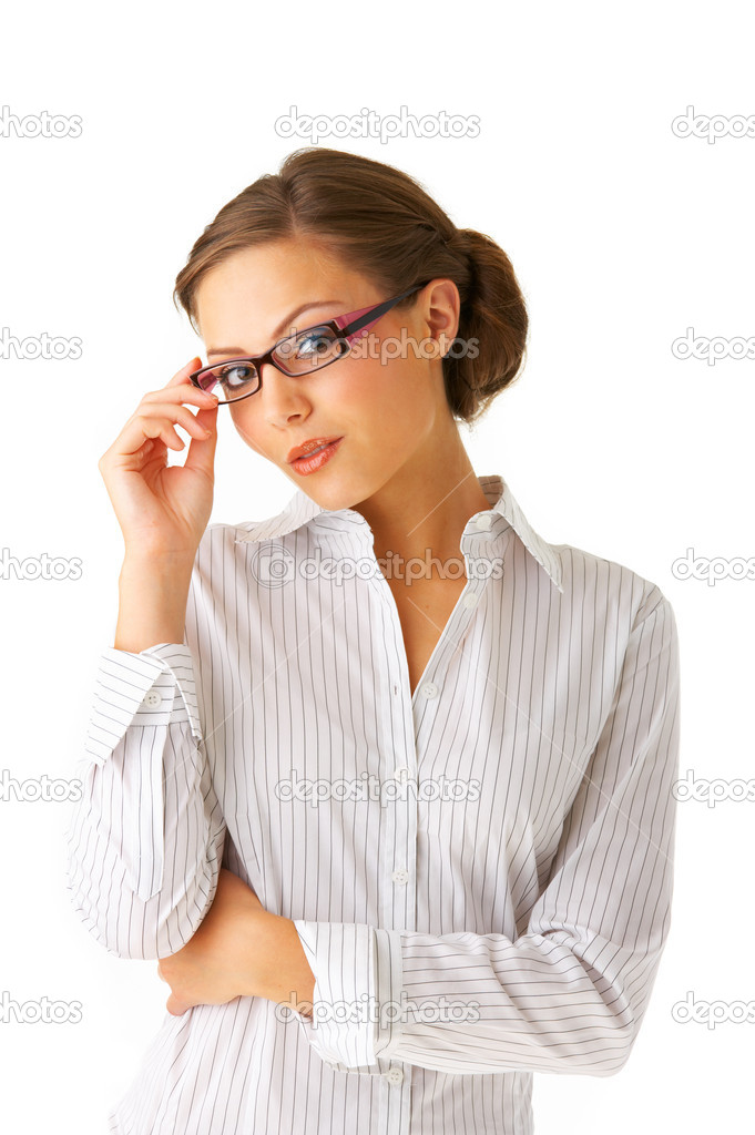 Portrait of a young businesswoman.  Stock Photo #3219792