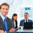 Royalty-Free Stock Photo: Business team and a leader
