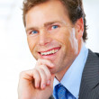 Royalty-Free Stock Photo: Confident business man smiling