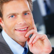 Royalty-Free Stock Photo: Attractive business man closeup