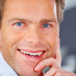 Royalty-Free Stock Photo: Attractive business man close up