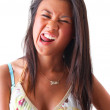 Royalty-Free Stock Photo: Portrait of an exotic girl pulling a funny face.
