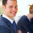 Attractive young white collar worker - Stock Photo