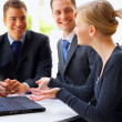 Workgroup interacting - Stockfoto