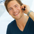 Man with his cellular - Stock Photo