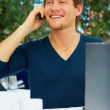 Casual Young Man on the Phone - 图库照片