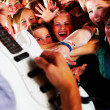 Royalty-Free Stock Photo: Guitarsolo at a rock concert