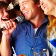 Singing the blues away - Stock Photo