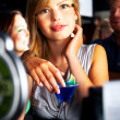 Lonesome girl in the bar... - Stock Photo