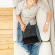 Royalty-Free Stock Photo: Young man relaxing with laptop