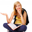 Sweet casual student - Stock Photo