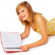 Royalty-Free Stock Photo: Casual student reading