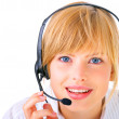 Royalty-Free Stock Photo: Hotline operator with headset