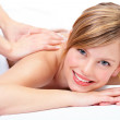 Massage at the day spa - Stock Photo