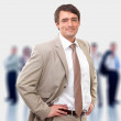 Royalty-Free Stock Photo: Casual smiling business man standing, casual.