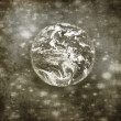 Old grunge view of earth - Stock Photo
