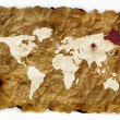 Royalty-Free Stock Photo: Old cloth world map