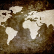 Royalty-Free Stock Photo: Grunge type world map