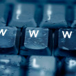 WWW - Spelled in keys on a laptop - Stock Photo