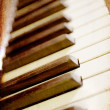 Gruneg piano keys - Stock Photo