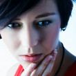 Sharp Close-up Fashion Portrait - Stock Photo