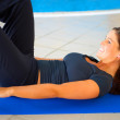 Training abs. - Stock Photo
