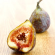 Macro of a fig - Stock Photo