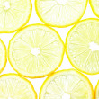 Macro of lemon slices - Stock Photo