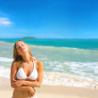 Beautiful Young Woman on the Beach - Foto Stock